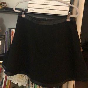 NWT✨ Banana Republic faux leather trim Aline skirt